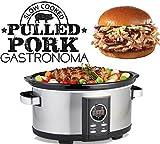 Gastronoma 18280000 Digitaler Pulled Pork Slow Cooker Schongarer, 6,50...