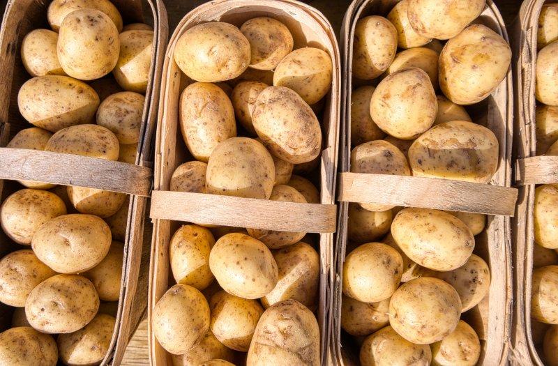 Körbe gefüllt mit Kartoffeln