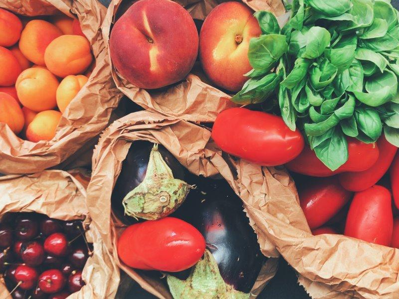 Obst und Gemüse für die Zubereitung von leckeren Gerichten mit der Flotten Lotte