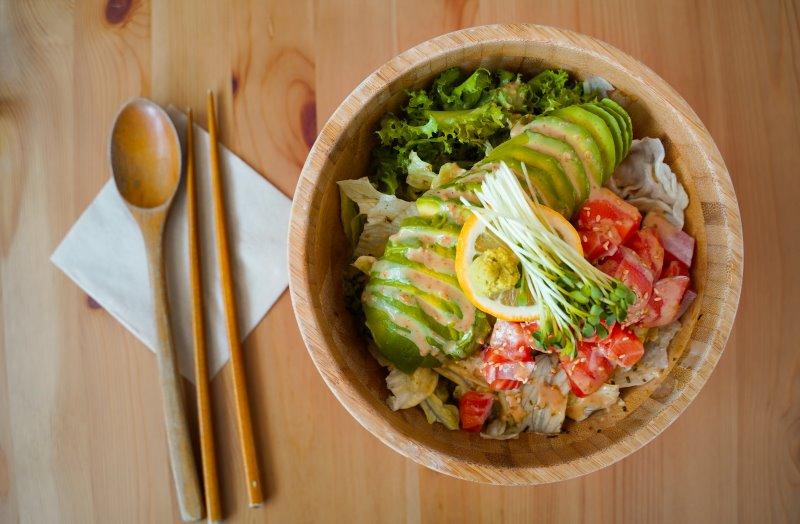 Bambusschüssel für Salat