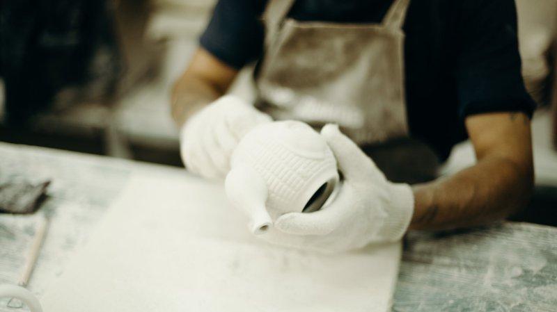 Herstellung einer Teekanne aus Keramik
